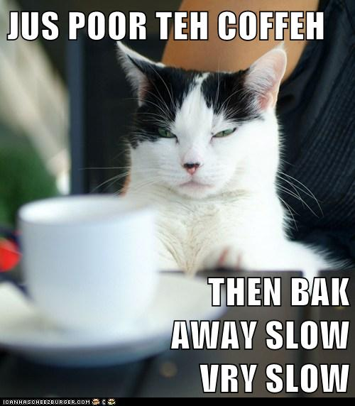 jus poor the coffee